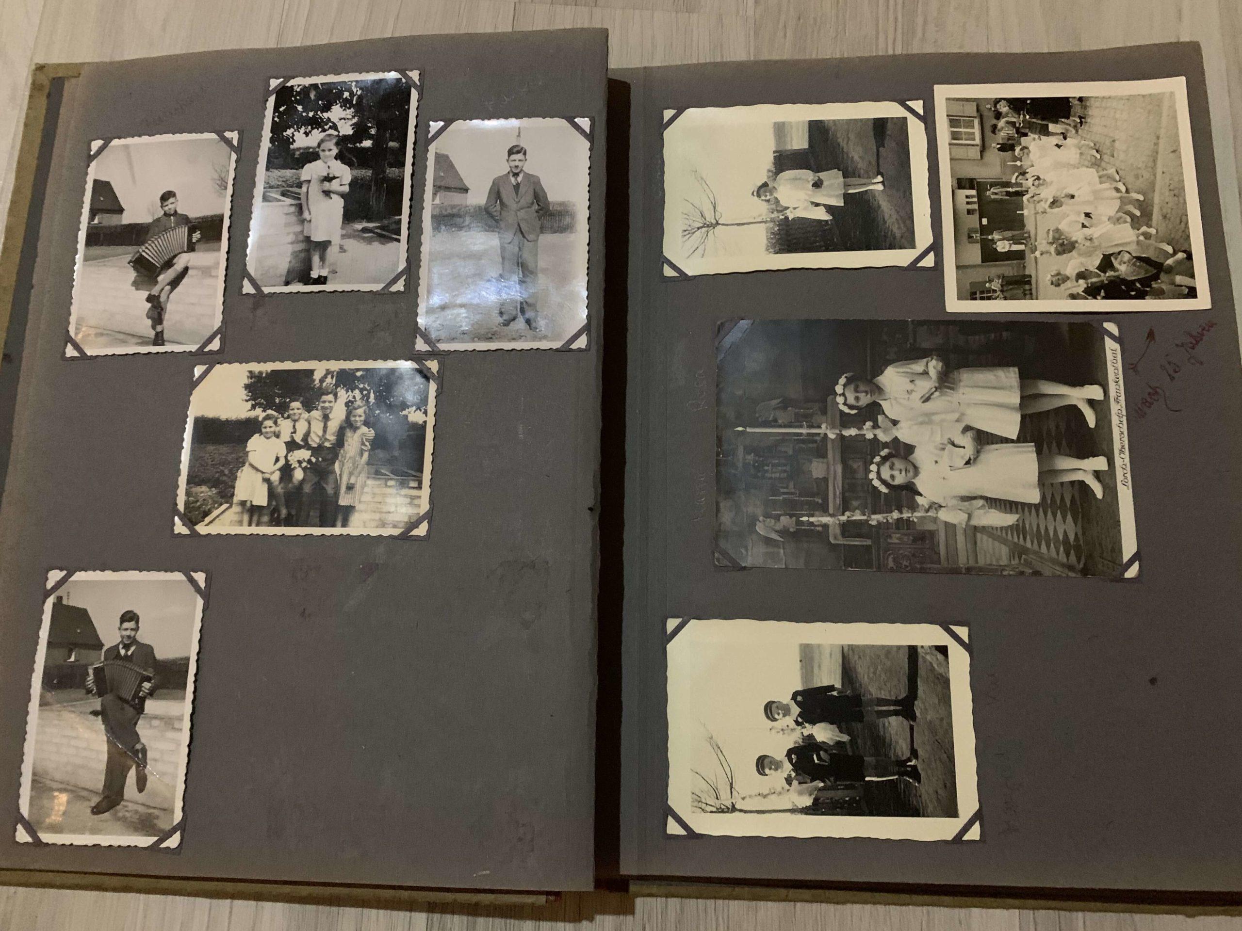 Schwarz-Weiss Fotoalbum historisch