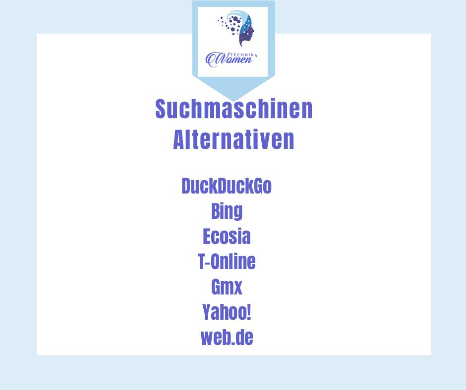 Alternative Suchmaschine